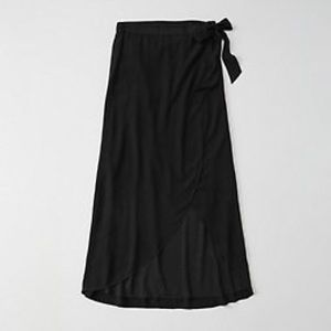 Maxi Wrap Skirt Abercrombie and Fitch
